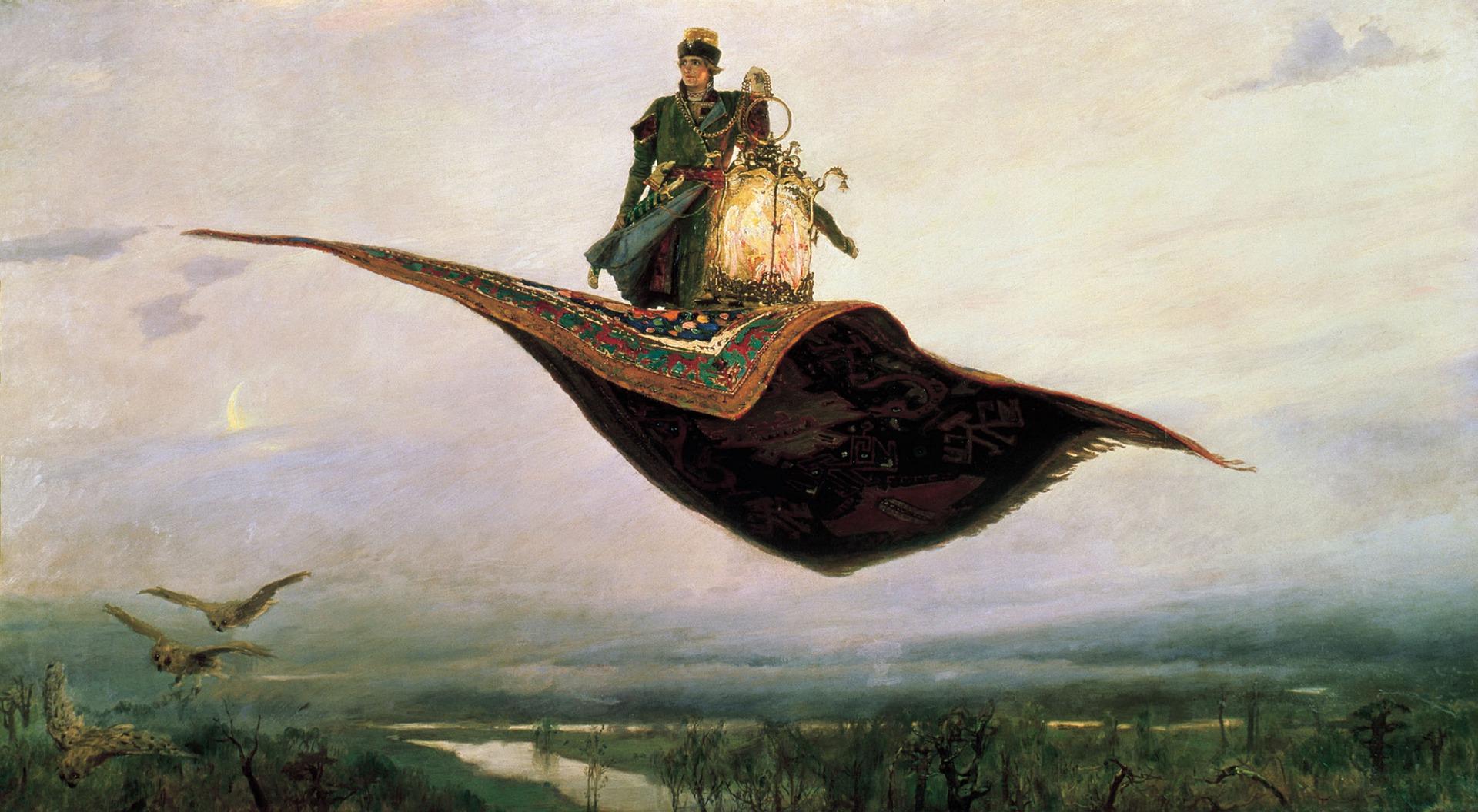 Origin of Genies - magic carpet Aladdin